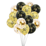 Gold and Black Birthday Balloons for 30th, 40th, 50th and 60th