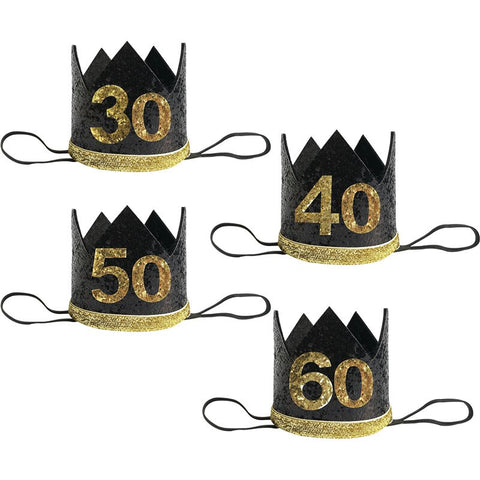 Birthday Crowns for 30th, 40th, 50th and 60th Birthdays