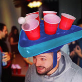 Inflatable Hat Toss Pong Party Game