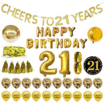 21st Gold Themed Birthday Decorations