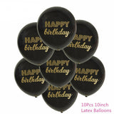 21st Black Themed Birthday Supplies