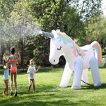 Giant Inflatable Unicorn Water Spraying Party Decoration