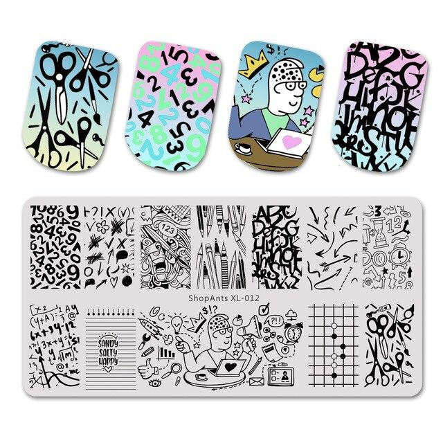 ShopAnts Stamping Plates Learning Stationery Pencile Math Image Stamp Templates Manicure Printing Stencil Tool