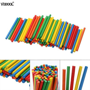 100pcs Colorful Bamboo Counting Sticks Montessori Preschool Learning Toys for Math Education