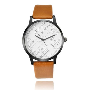 Miler Watches Men Fashion Geometric Mathematics Pattern Watches Casual Sports Watches Leather Relogio Masculino Montre Homme