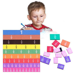 51Pcs Magnetic Rainbow Math Fractions Toys for Children's Early Education