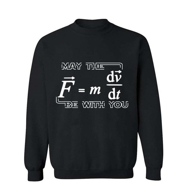 Men's Football Shirt Off White Gym Couture Hip Hop 100% Cotton May The Force Be With You Funny Math Hoodies Sweatshirt HoodieMen