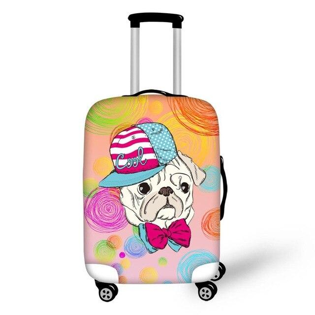 Math Pud Dog Print Elastic Travel Accessories for 18-30 inch Suitcase Luggage Protect Cover Fashion Suitcase Covers