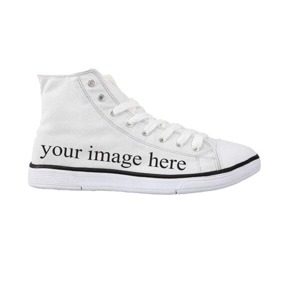FORUDESIGNS 2018 Spring Women High Top Canvas Shoes Casual Vulcanize Flat Shoes Math Formula Printed Female Lacing UP Shoes
