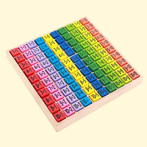 Educational Wooden Toys Multiplication Table for Arithmetic Teaching Aids for Kids