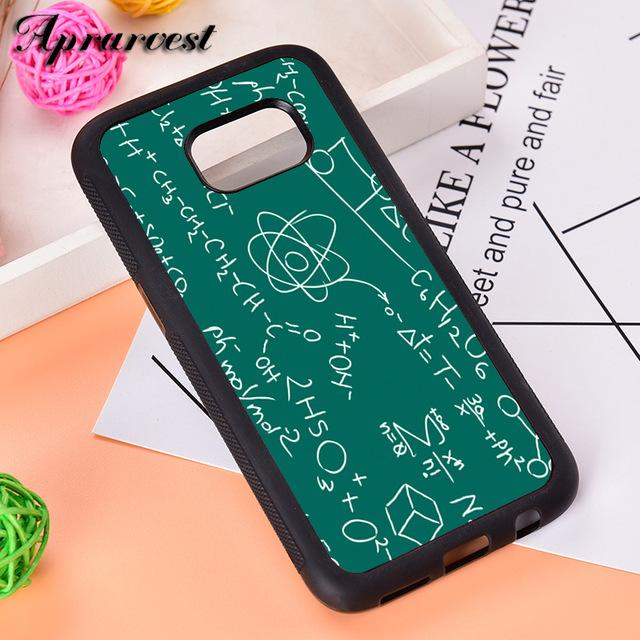 Aprarvest Science Math Physics Formulas Phone Case Cover For Samsung Galaxy S5 S6 S7 edge S8 S9 Plus S10 lite S10E Note 5 8 9 1