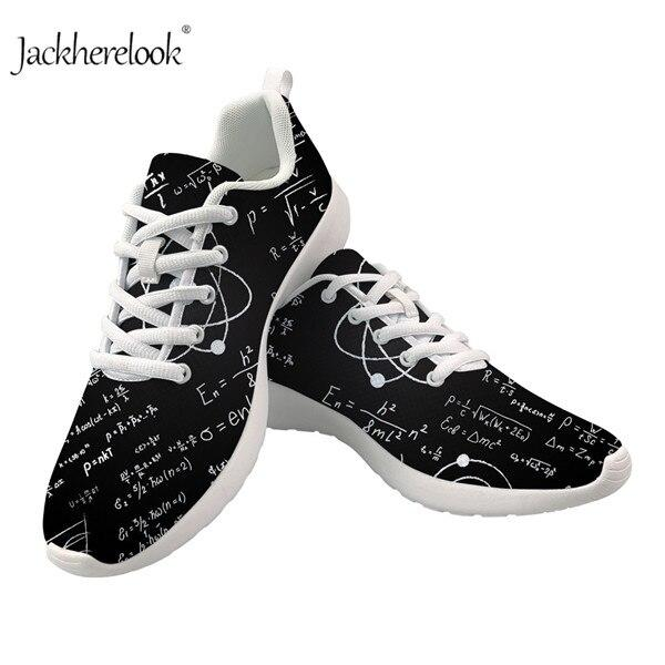 Men Lightweight Sneakers Black Math Patterned Casual Shoes Breathes Plus Size Outdoor