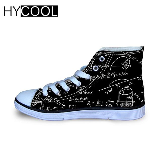 HYCOOL Funny Canvas Shoes for Kids Math Formula 3D Printed Children Summer Travel Sport Lightweight Sneakers Boys Girls Dropship