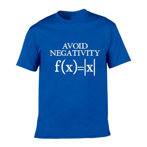 iLoveMathBooks J453-MSTBU- / S Avoid Negativity Men Funny Mathematics Absolute Value Math Function Geek T Shirt