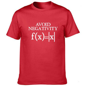 Avoid Negativity Men Funny Mathematics Absolute Value Math Function Geek T Shirt