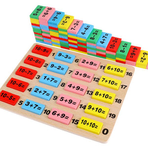 Math Blocks Teaching Aids for Children Creative Educational Wood Blocks Model Toys for Addition and Subtraction