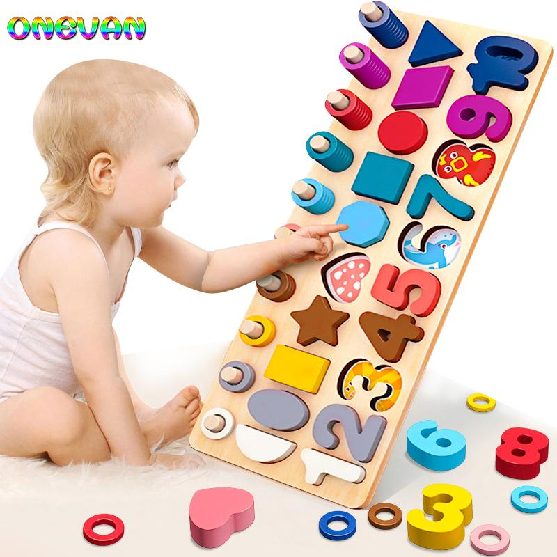 Multi-function Geometric Shape Cognition Match for Early Education Teaching Aids Math Toy For Children