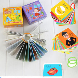 Picture Cards Toy Maths Learning Cards Toddler Baby Educational Toy 0-3 YearLiteracy Fun Game Chinese Character Learning Books