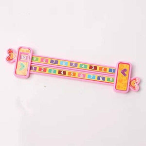 Wooden Math Arithmetic 1-10 Addition Subtract Learning Ruler Scientific Rail Design Ruler Kids Education Toys Children Gifts