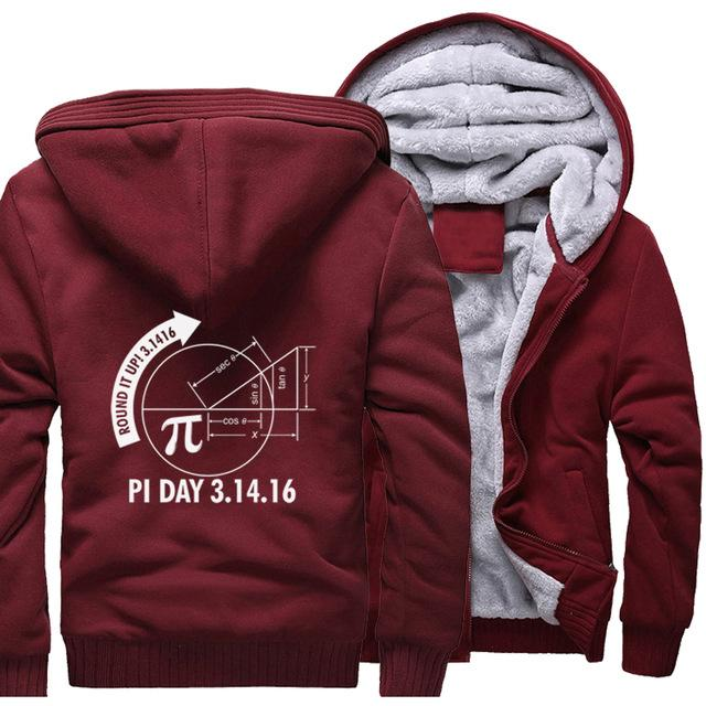 Math Graph Pi Day Science Hoodies Sweatshirts Men's Jacket