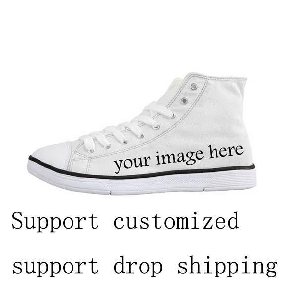 Cool Math Formula High Top Casual Men's Vulcanize Shoes Personalized Lace Up Canvas Shoes