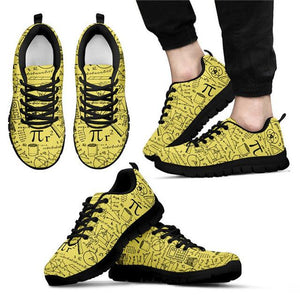 doginthehole Fashion Flats For Women Math Pattern Girls Casual Sneakers For Ladies Yellow Anti-Slip Flat Shoes Zapatos De Mujer