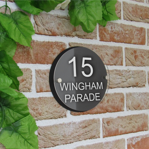 Round House Number Plaque (180mm x180mm)