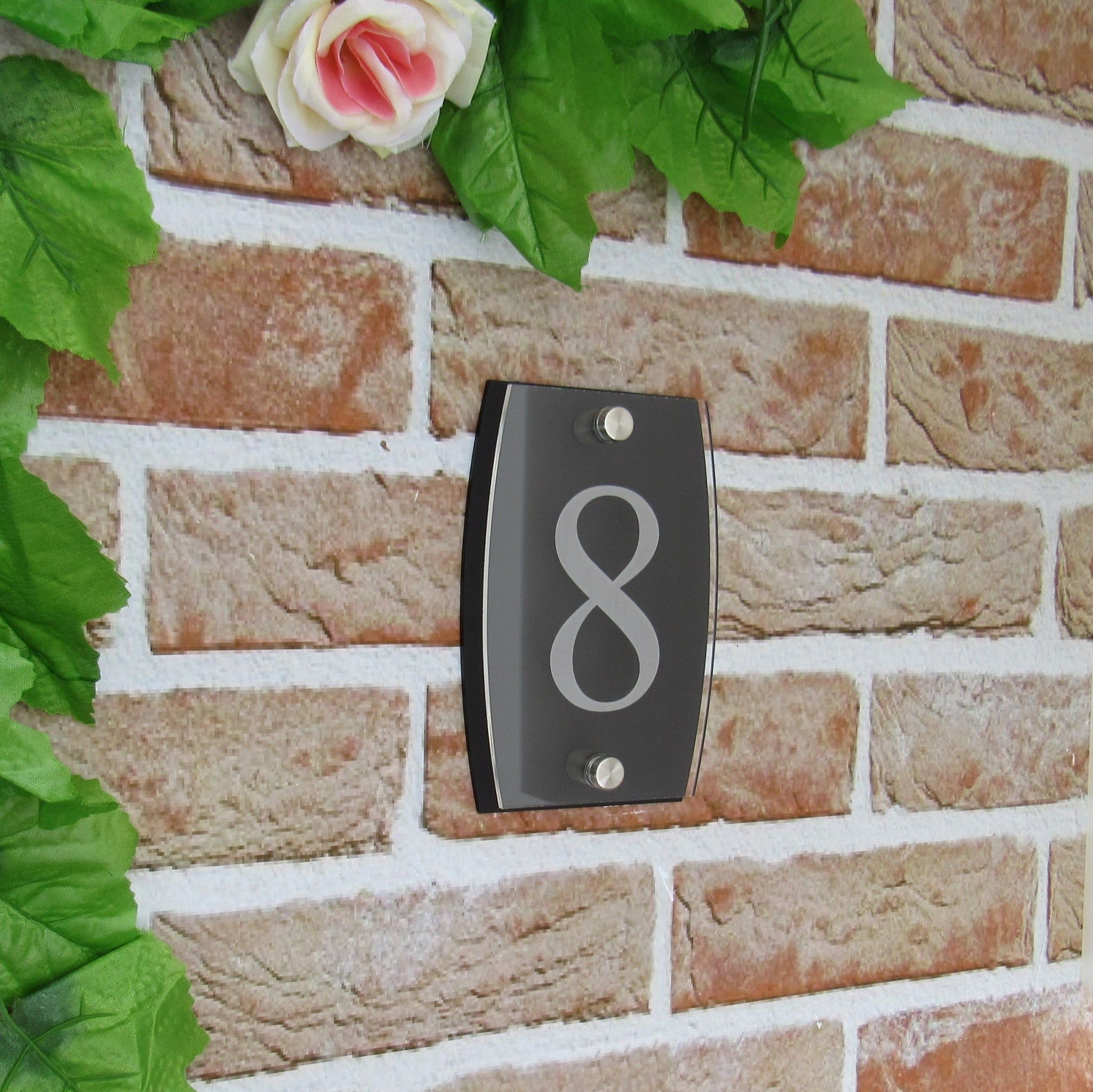 Small Modern House Number Plaque (150mm x 100mm)