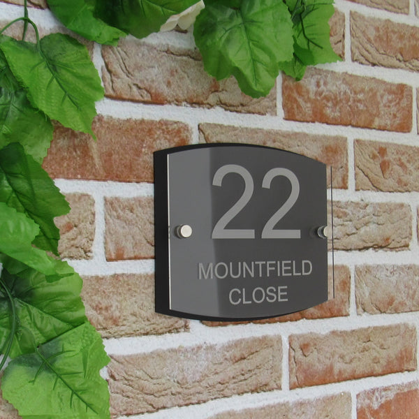 Modern House Name/Number Plaque