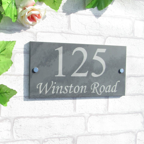 Slate House Sign 300mm x 150mm