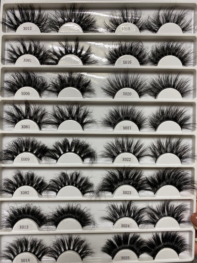 25 MM AND 3D MINK WHOLESALE EYELASHES (BASIC ORDERS ONLY)