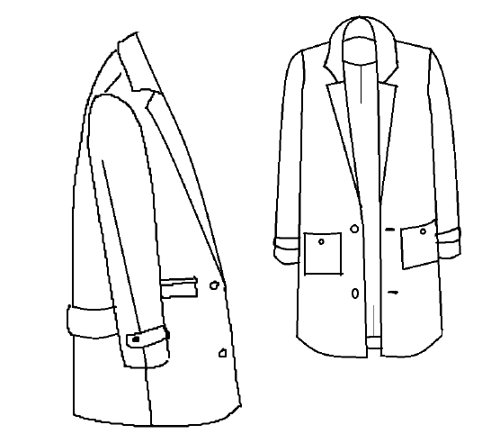 patron couture manteau ray
