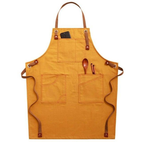 Tablier de Cuisine <br /> Denim Jaune