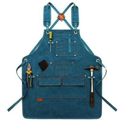 Tablier Professionnel Multi Poche Bleu | Maison-du-Tablier