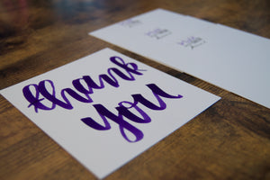 thank you note card - set of 50 - double sided
