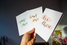 Load image into Gallery viewer, greeting cards - hand lettered watercolour wash
