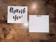 Load image into Gallery viewer, thank you note card - set of 50 - double sided