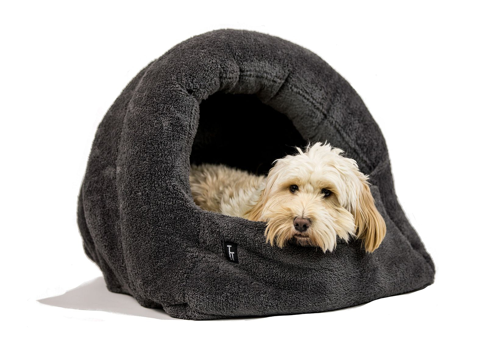 Picture of: Covered Dog Cave Bed Uk Tigga Towers
