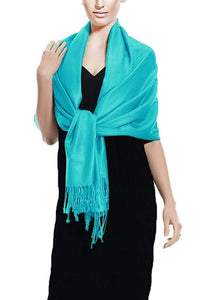 Surf Blue Pashmina Shawl Wrap Scarf