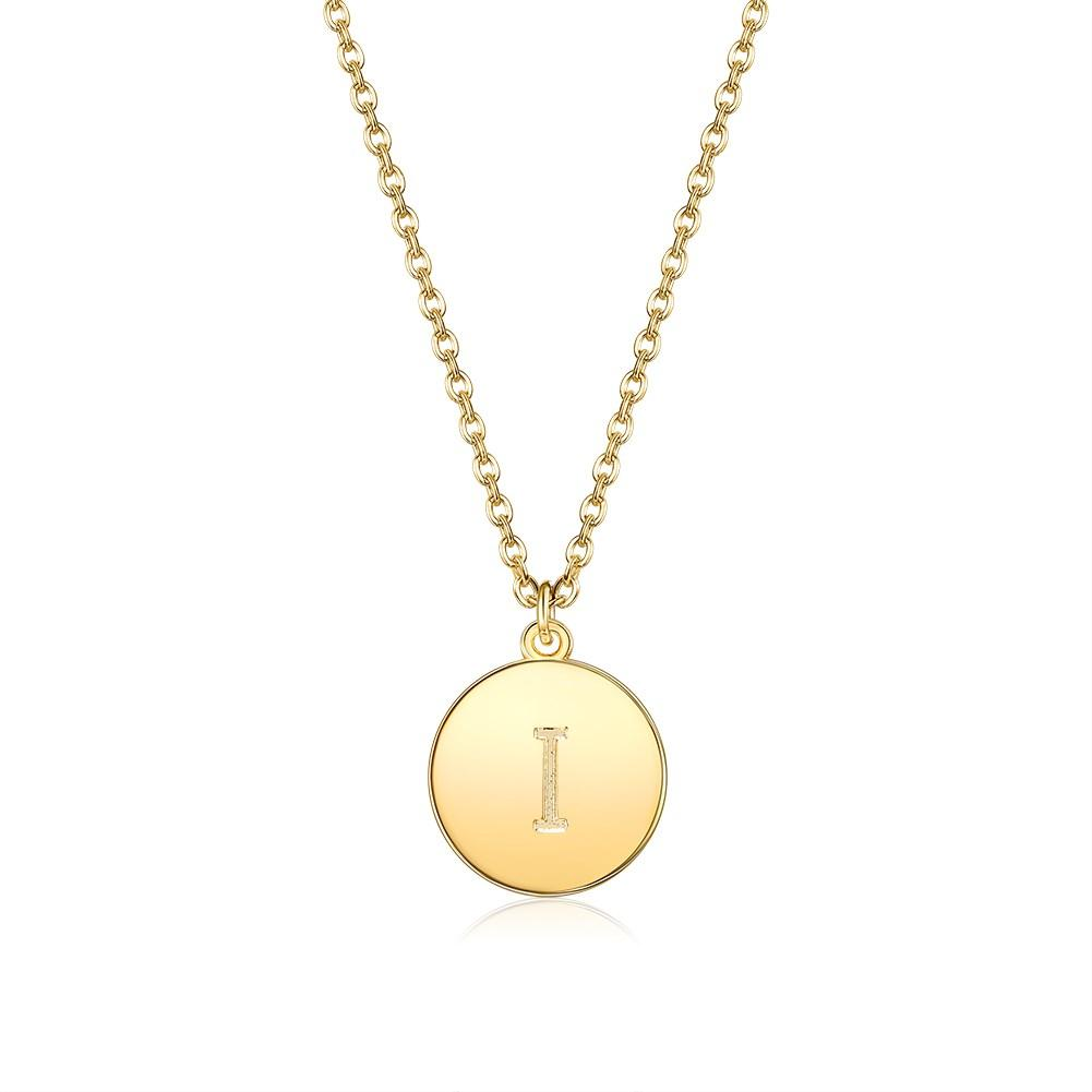 Initial Necklace in 18K Gold Plated