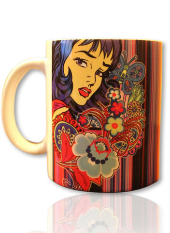 GRAPHIC LADY MUG