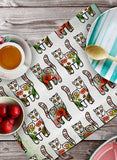 LOTUS AND CATS TABLEMATS