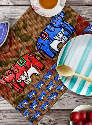 ENGLISH ELEPHANT TABLEMATS