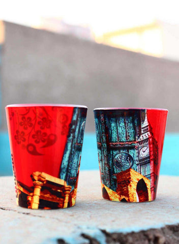 DELHI TO LONDON SHOT GLASSES