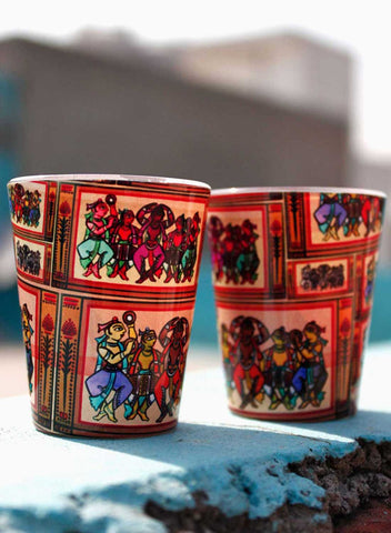 CELEBRATING DANCERS SHOT GLASSES