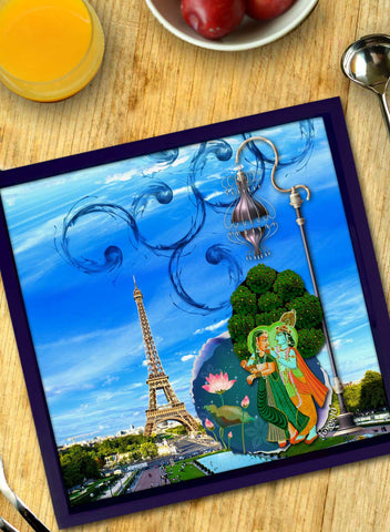 RADHA KRISHNA IN PARIS TRAY