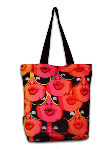 KISSING LIPS TOTEBAG