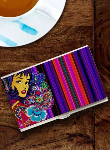 GRAPHIC LADY CARD HOLDER