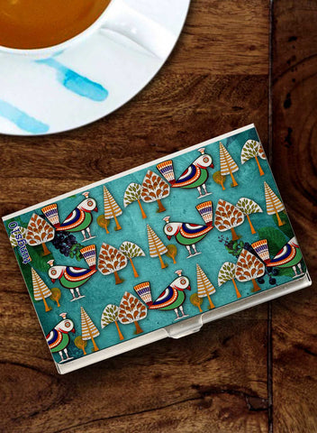 BIRDS IN THE FOREST CARD HOLDER