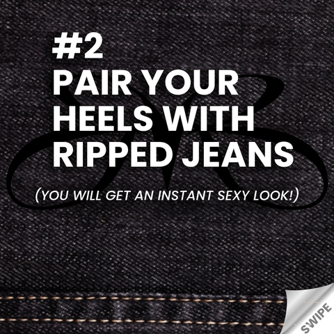 Jeans and Heels Rule Pair Your Heels with Ripped Jeans - Roberto Ruivo